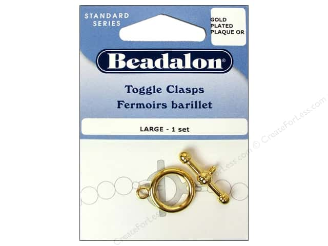 Beadalon Toggle Clasps 16.8 mm Large 1 pc. Gold
