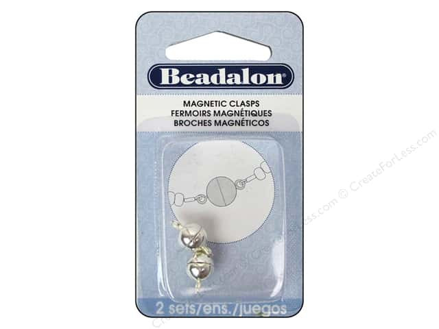 Beadalon Magnetic Clasp Round 8 mm Silver 2 pc.