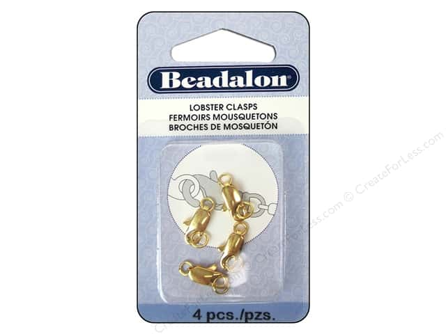 Beadalon Lobster Clasp Two Ring 12 mm Gold 4 pc.