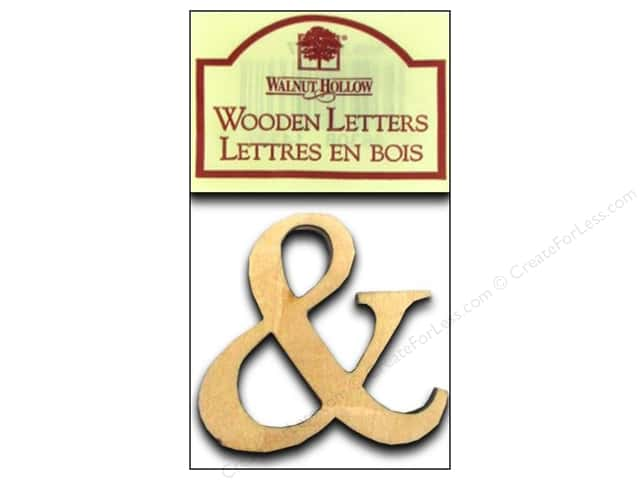 "Walnut Hollow Wood Ampersand 1.5"" Plywood 2pc"