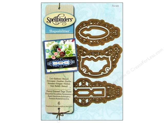 Spellbinders Shapeabilities Die Fancy Framed Tag 3