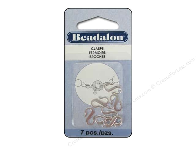 Beadalon S-Hooks Small Silver 7 pc.