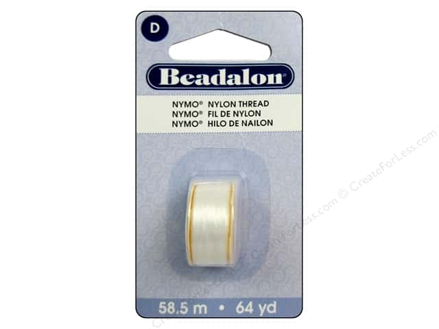 Beadalon Nymo Thread Size D 64 yd. White