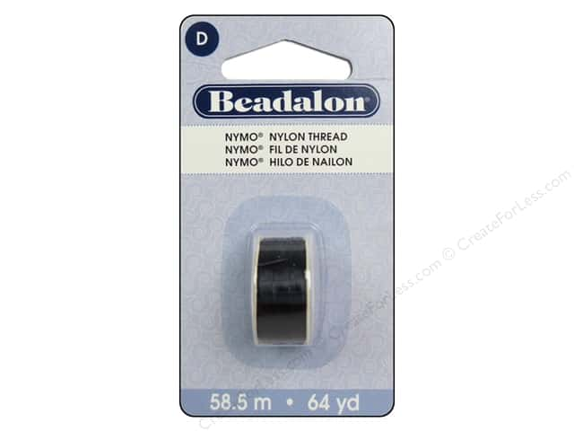 Beadalon Nymo Thread Size D 64 yd. Black