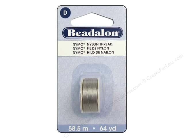 Beadalon Nymo Thread Size D 64 yd. Grey