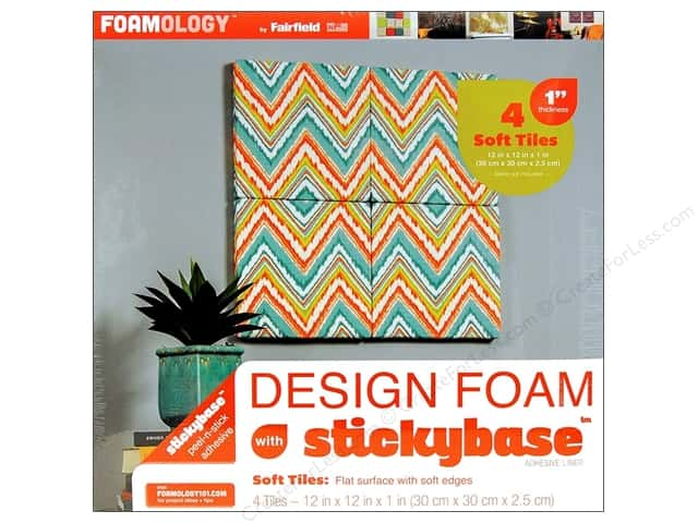 "Fairfield Design Foam 12""x 12""x 1"" 4pc"