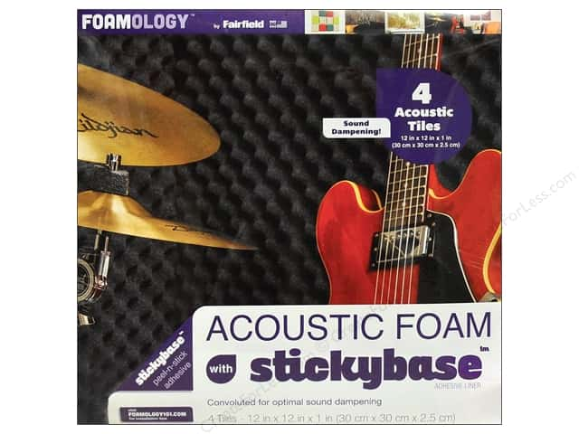 "Fairfield Foam Acoustic 12""x 12""x 1"" 4pc"