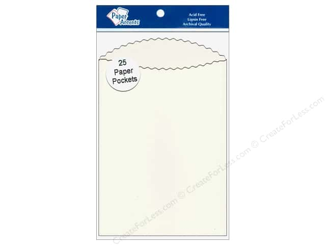 Paper Accents Pocket  3 1/2 x 5 in. Cream 25 pc.