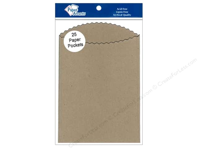 Paper Accents Pocket  3 1/2 x 5 in. Brown Bag 25 pc.