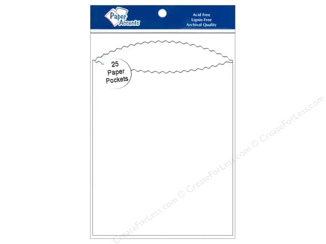 Paper Accents Pocket  4 1/4 x 5 1/2 in. White 25 pc.