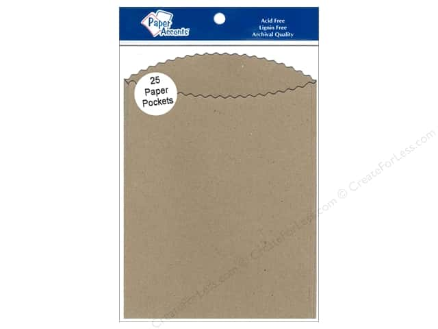 Paper Accents Pocket  4 1/4 x 5 1/2 in. Brown Bag 25 pc.