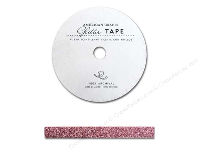 American Crafts Glitter Tape 3/8 in. Parfait