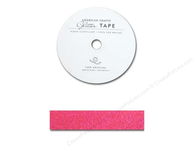 American Crafts Glitter Tape 7/8 in. Taffy