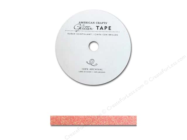 American Crafts Glitter Tape 3/8 in. Peony
