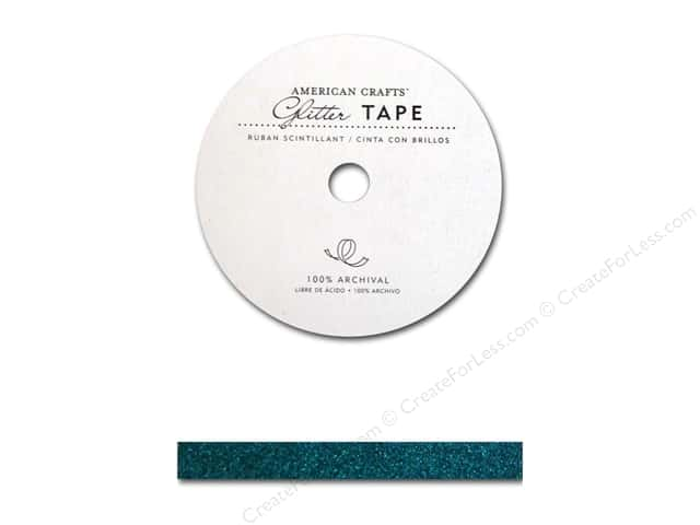 American Crafts Glitter Tape 3/8 in. Peacock
