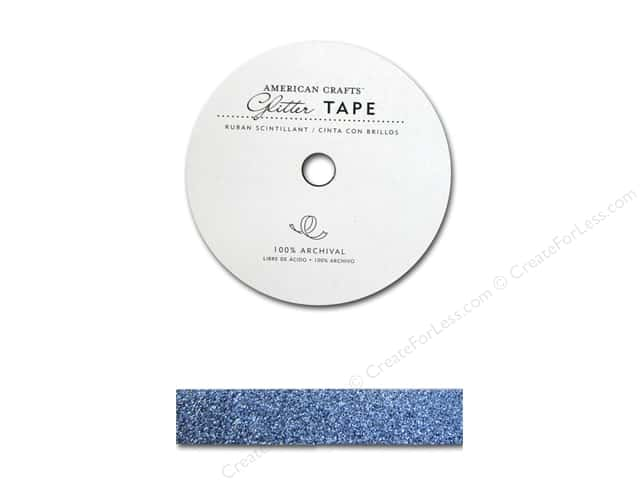 American Crafts Glitter Tape 5/8 in. Sky