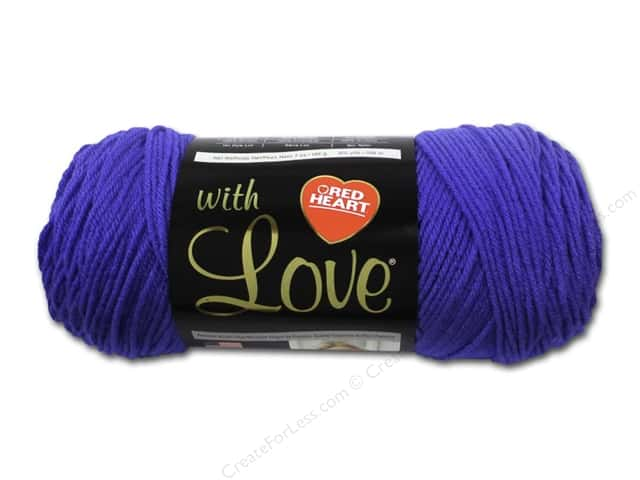 Red Heart With Love Yarn #1546 Iris 370 yd.