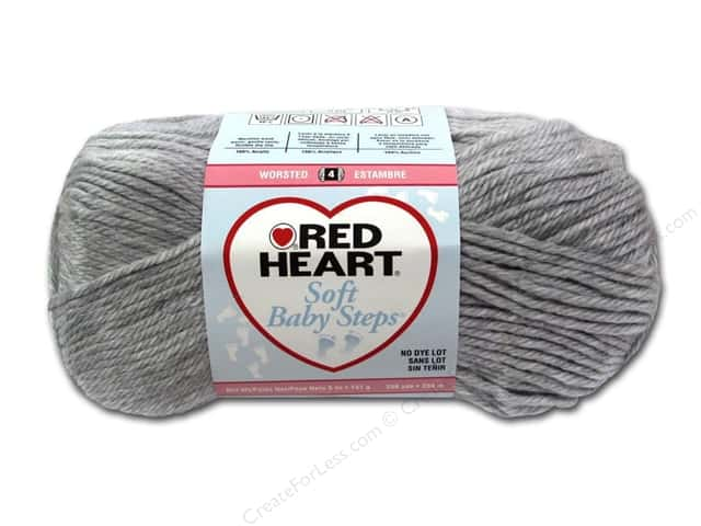 Red Heart Soft Baby Steps Yarn #9401 Elephant 256 yd.