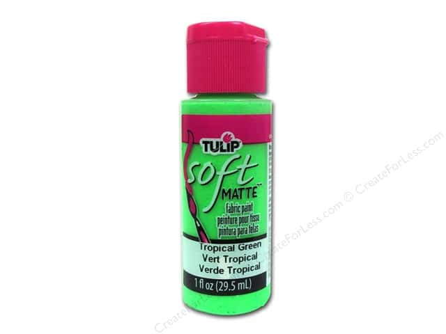Tulip Soft Fabric Paint 1oz Neon Tropical Green