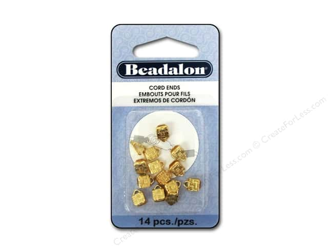 Beadalon C-Crimp Cord Ends 1.9 mm Gold 14 pc.