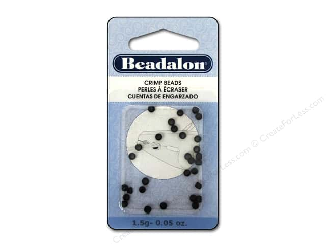 Beadalon Crimp Beads 3 mm Black .05 oz.
