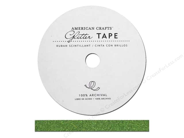 American Crafts Glitter Tape 3/8 in. Spinach