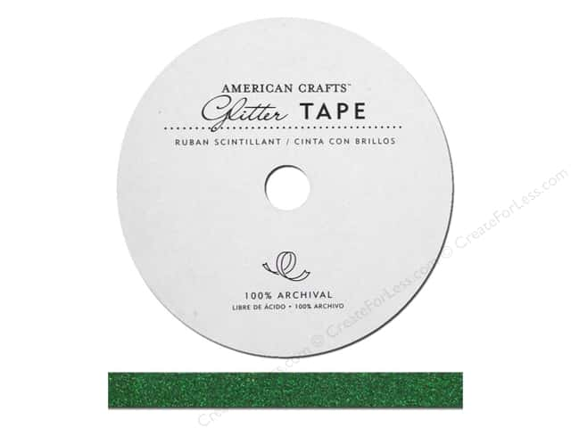 American Crafts Glitter Tape 3/8 in. Evergreen