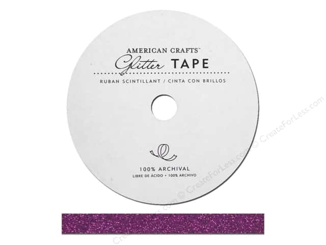 American Crafts Glitter Tape 3/8 in. Grape