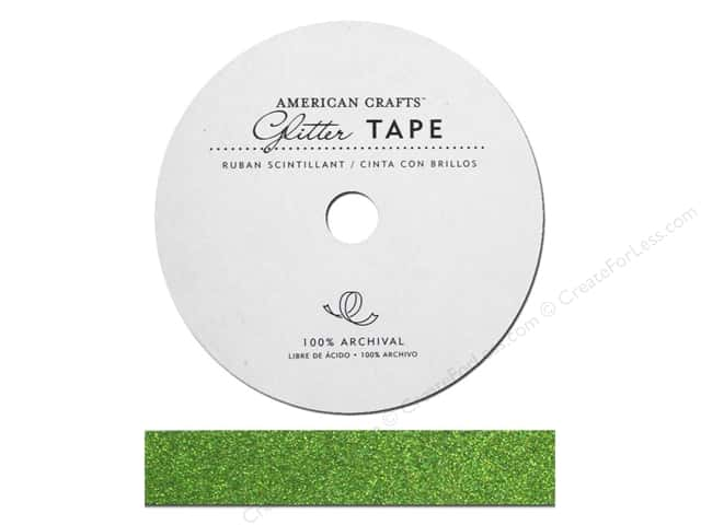 American Crafts Glitter Tape 5/8 in. Spinach