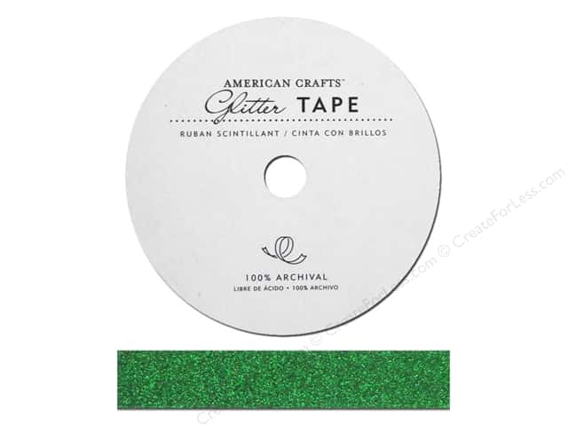 American Crafts Glitter Tape 5/8 in. Evergreen