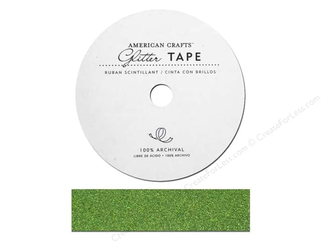 American Crafts Glitter Tape 7/8 in. Spinach