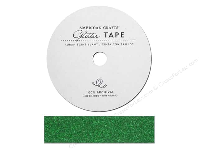 American Crafts Glitter Tape 7/8 in. Evergreen