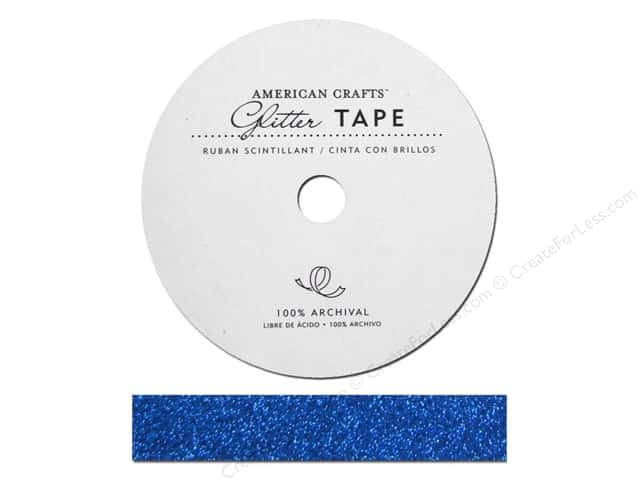 American Crafts Glitter Tape 5/8 in. Marine