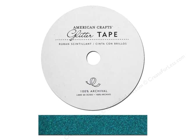 American Crafts Glitter Tape 5/8 in. Peacock