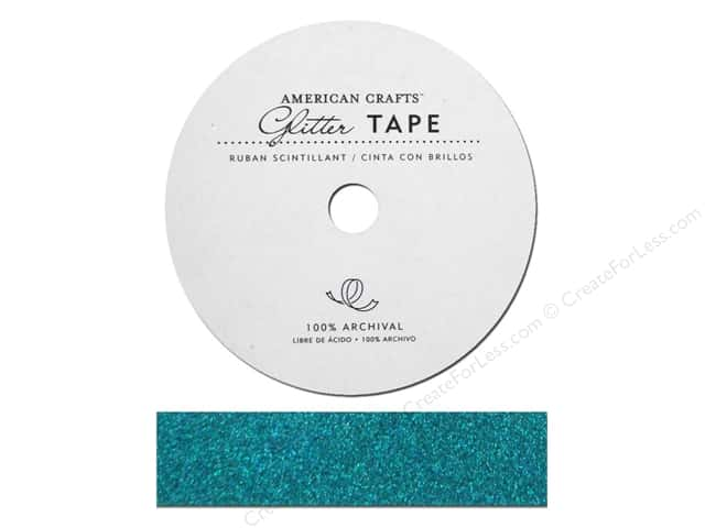 American Crafts Glitter Tape 7/8 in. Peacock