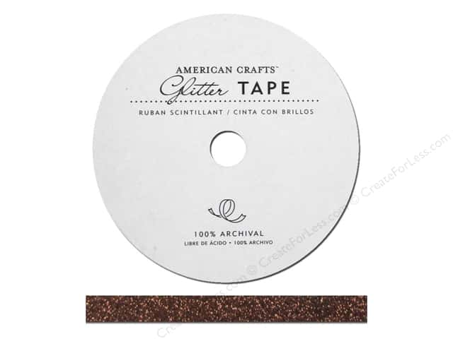 American Crafts Glitter Tape 3/8 in. Chestnut