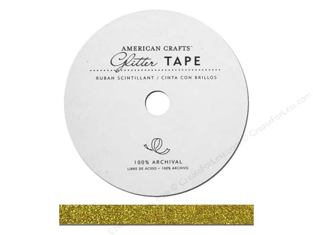 American Crafts Glitter Tape 3/8 in. Gold
