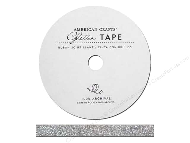 American Crafts Glitter Tape 3/8 in. Silver