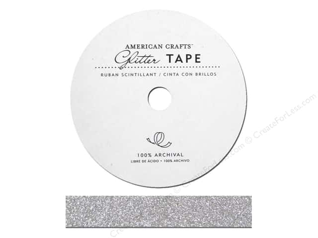 American Crafts Glitter Tape 5/8 in. Silver