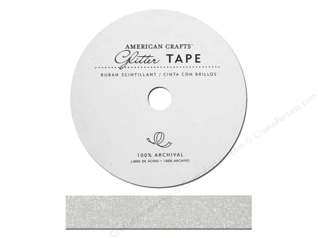 American Crafts Glitter Tape 5/8 in. White