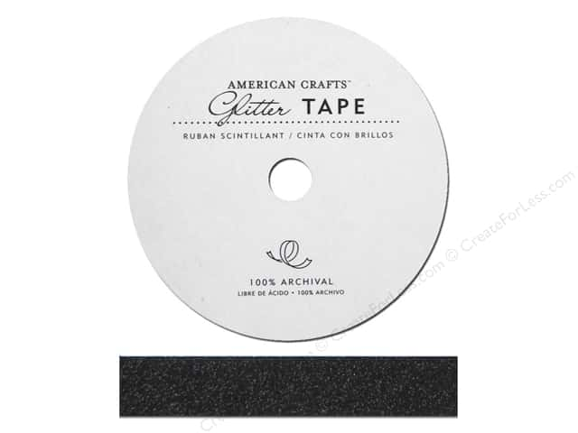 American Crafts Glitter Tape 5/8 in. Black