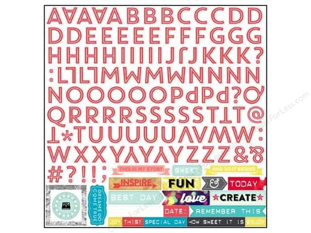 Echo Park Sticker 12 x 12 in. Capture Life Collection Alphabet (15 sets)