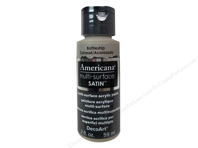 DecoArt Americana Multi-Surface Satin 2 oz. Battleship
