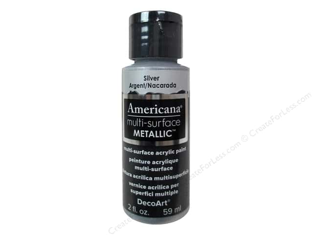 DecoArt Americana Multi-Surface Satin 2 oz. #550 Metallic Silver