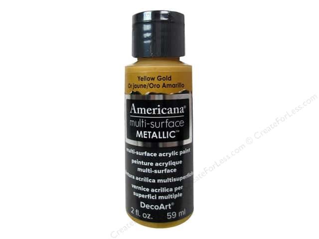 DecoArt Americana Multi-Surface Satin 2 oz. Metallic Yellow Gold