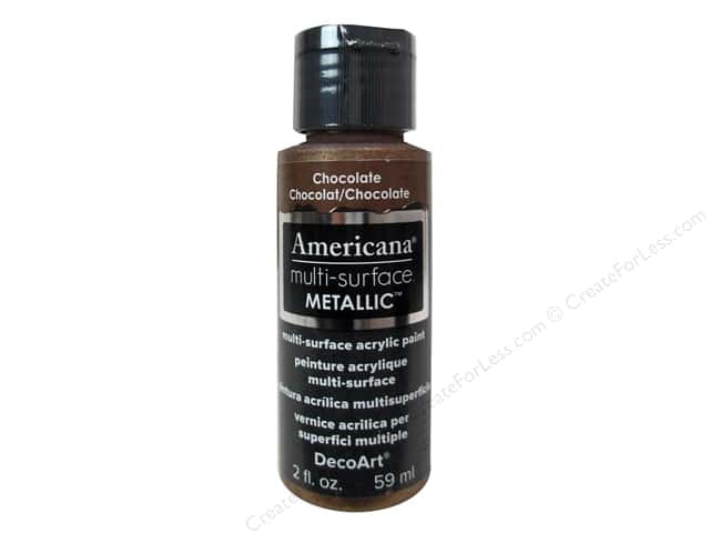 DecoArt Americana Multi-Surface Satin 2 oz. Metallic Chocolate