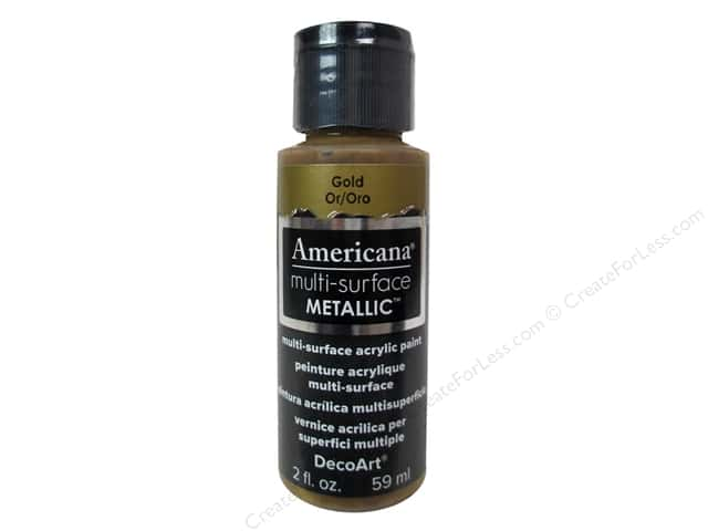 DecoArt Americana Multi-Surface Satin 2 oz. Metallic Gold