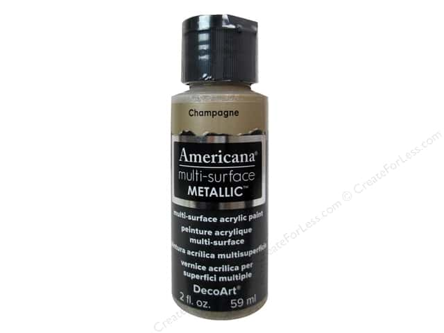 DecoArt Americana Multi-Surface Satin 2 oz. Metallic Champagne