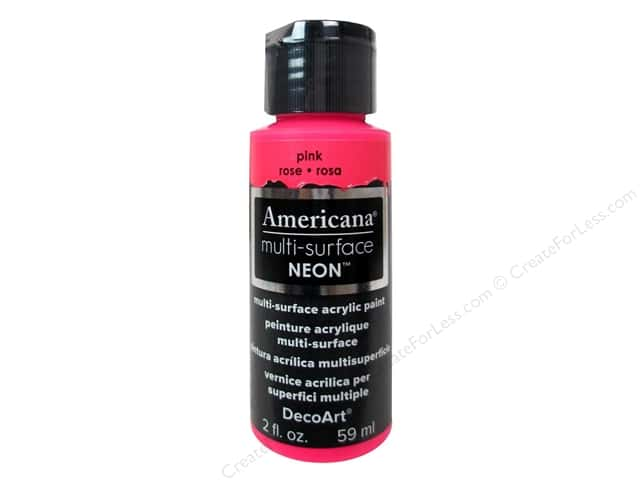 DecoArt Americana Multi-Surface Satin 2 oz. Neon Pink