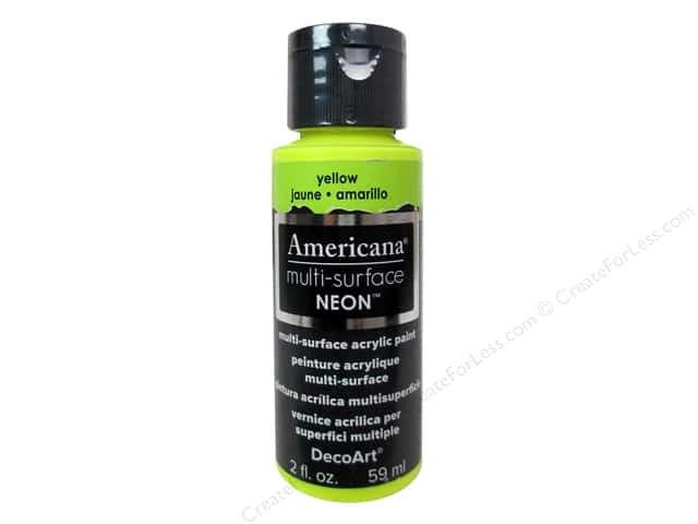 DecoArt Americana Multi-Surface Satin 2 oz. #557 Neon Yellow